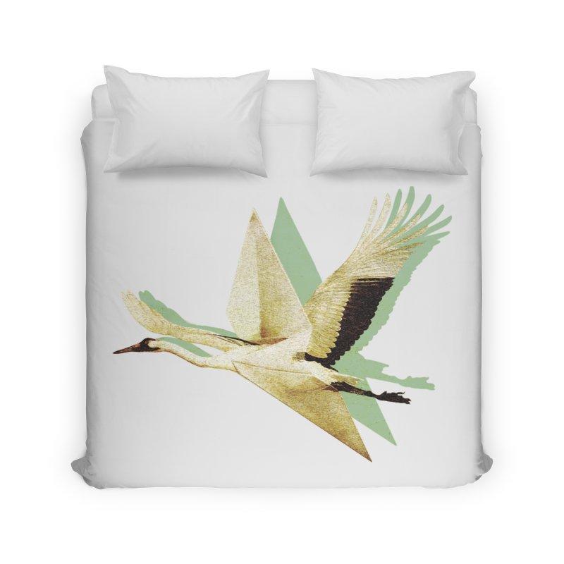 Paper Crane Home Duvet by AlmostGone