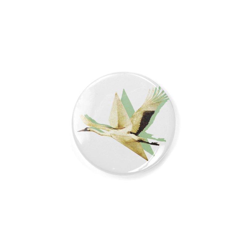Paper Crane Accessories Button by AlmostGone