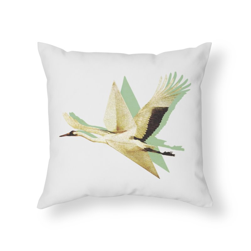 Paper Crane Home Throw Pillow by AlmostGone
