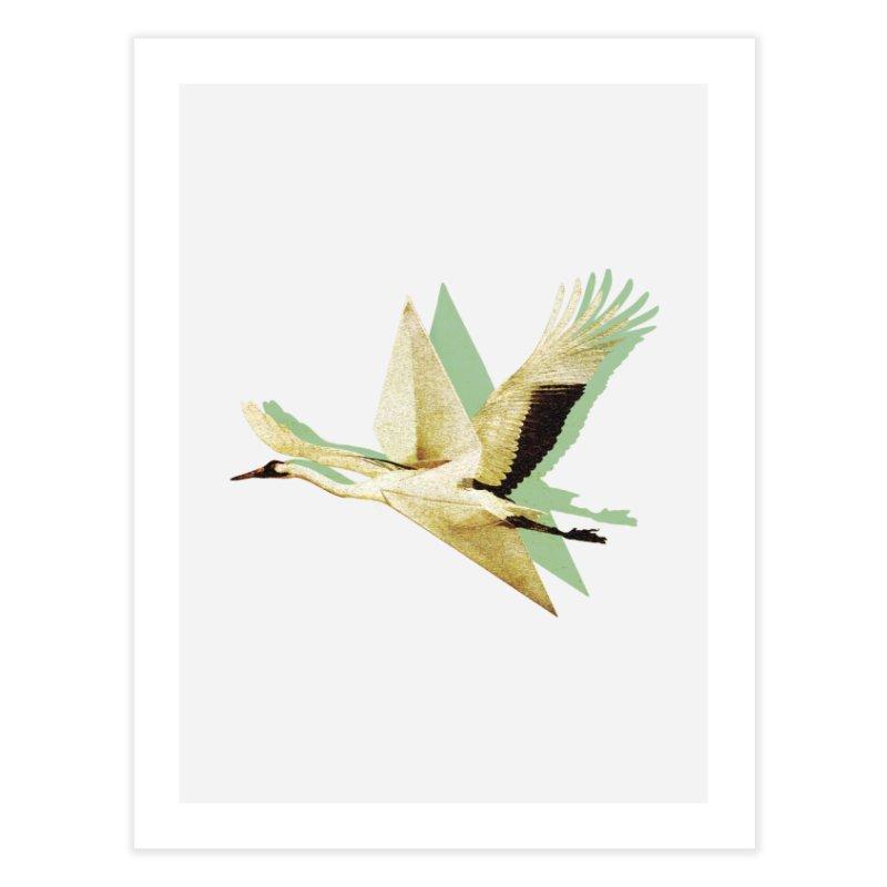 Paper Crane Home Fine Art Print by AlmostGone