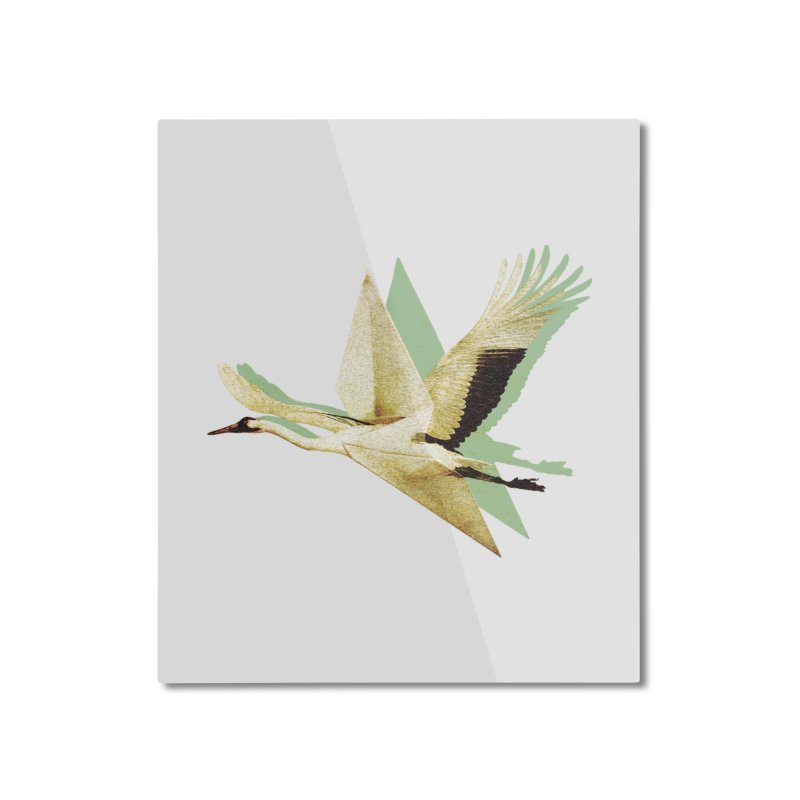 Paper Crane Home Mounted Aluminum Print by AlmostGone