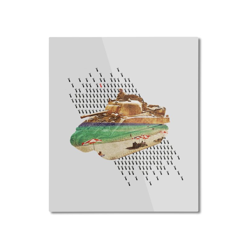 Beach Head Home Mounted Aluminum Print by AlmostGone