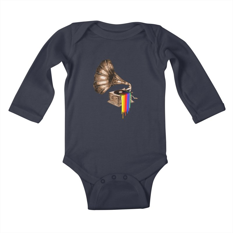 Don't be late Kids Baby Longsleeve Bodysuit by AlmostGone