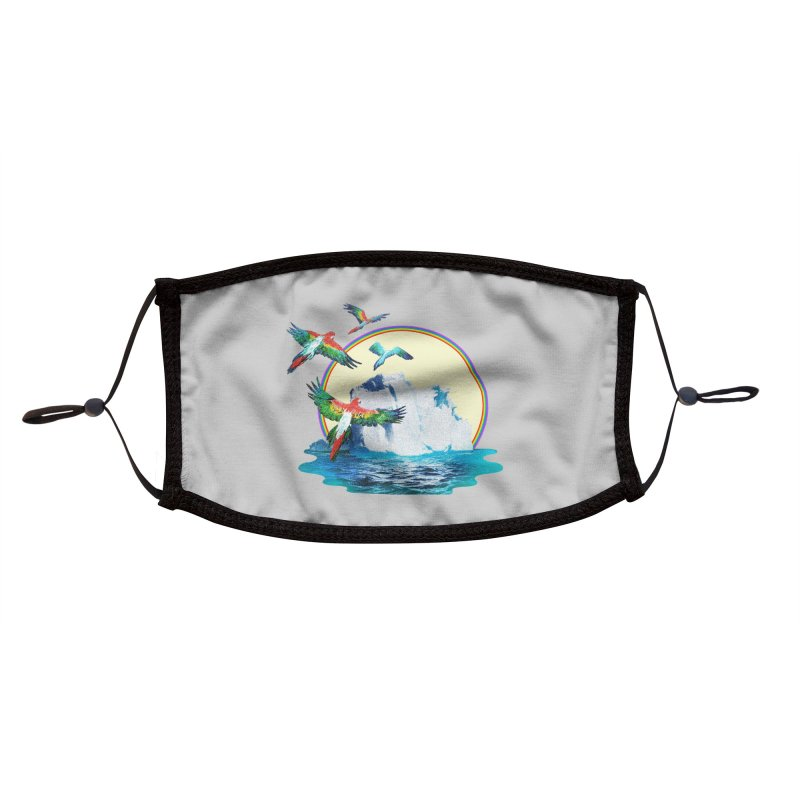 Disoriented Parrots 1 Accessories Face Mask by AlmostGone