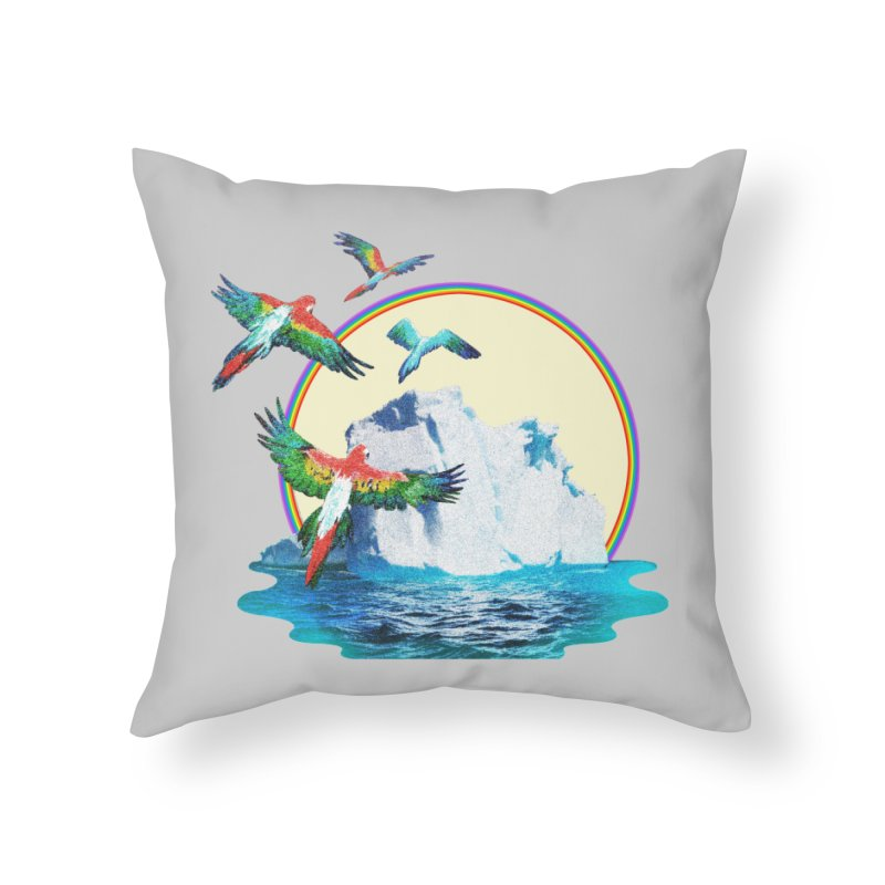 Disoriented Parrots 1 Home Throw Pillow by AlmostGone