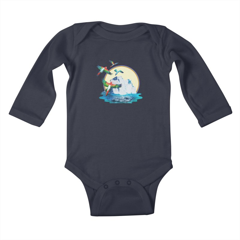 Disoriented Parrots 1 Kids Baby Longsleeve Bodysuit by AlmostGone
