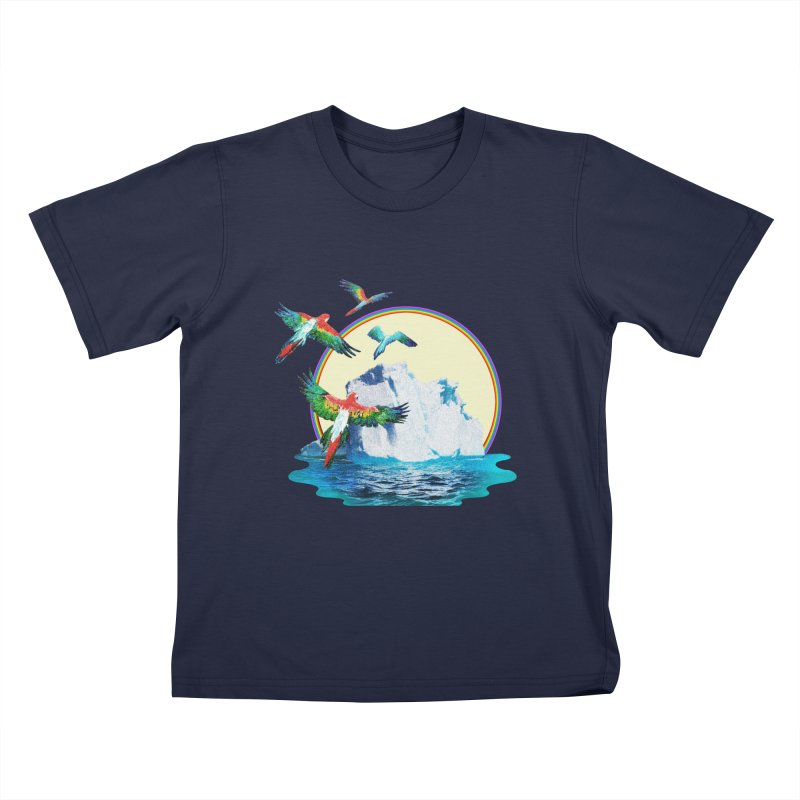 Disoriented Parrots 1 Kids T-Shirt by AlmostGone
