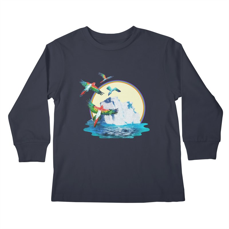 Disoriented Parrots 1 Kids Longsleeve T-Shirt by AlmostGone