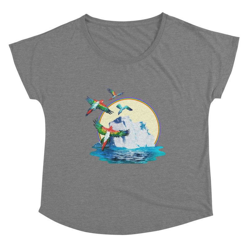 Disoriented Parrots 1 Women's Scoop Neck by AlmostGone