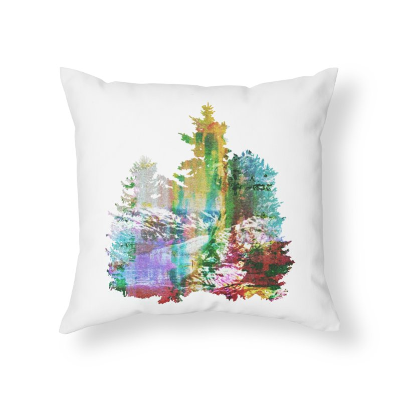 Neon river Home Throw Pillow by AlmostGone