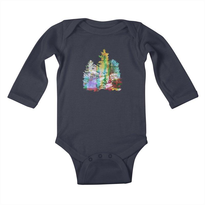 Neon river Kids Baby Longsleeve Bodysuit by AlmostGone