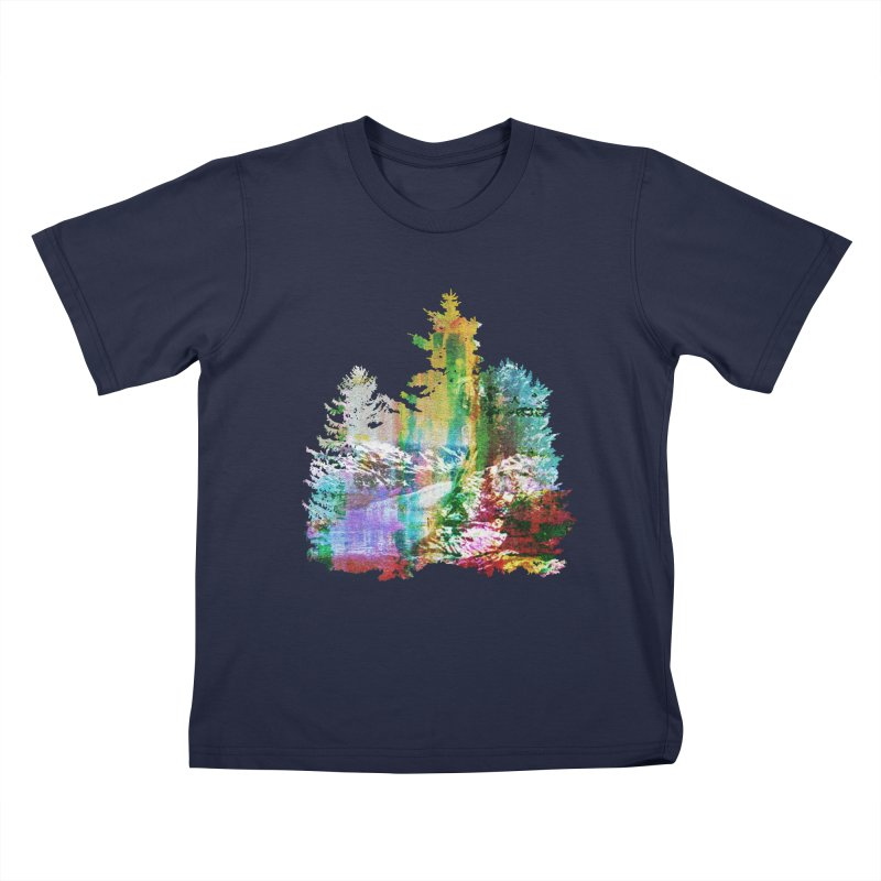 Neon river Kids T-Shirt by AlmostGone