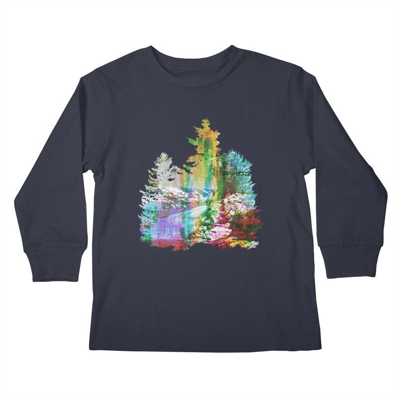 Neon river Kids Longsleeve T-Shirt by AlmostGone