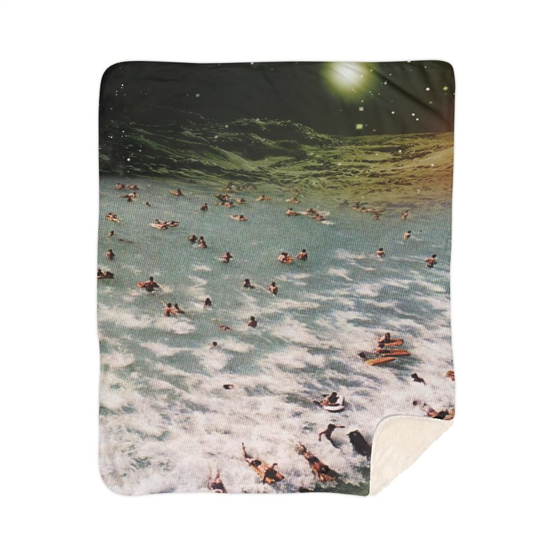 Galactic surf Home Blanket by AlmostGone