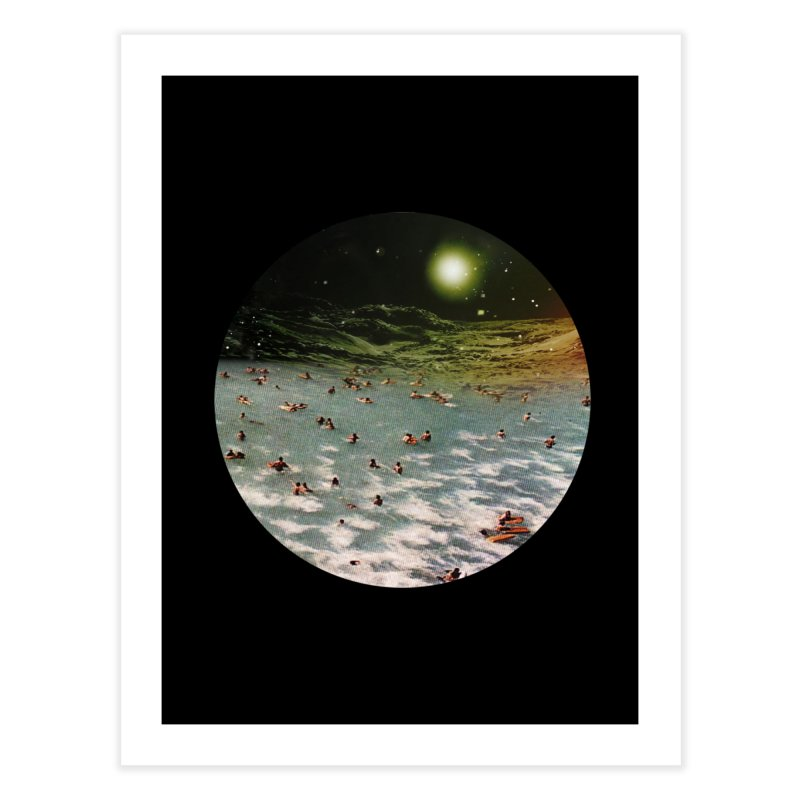 Galactic surf Home Fine Art Print by AlmostGone