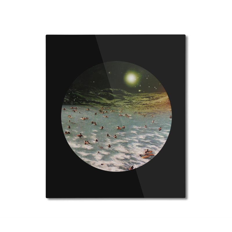 Galactic surf Home Mounted Aluminum Print by AlmostGone