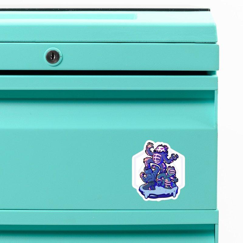 Trouble Makers Accessories Magnet by Liquid Bit Artist Shop
