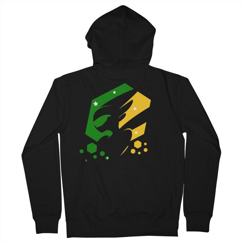 KQB Logo: Brazil Men's Zip-Up Hoody by Liquid Bit Artist Shop