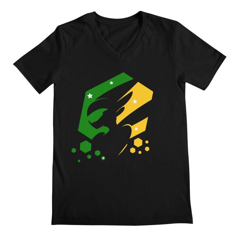 KQB Logo: Brazil Men's V-Neck by Liquid Bit Artist Shop