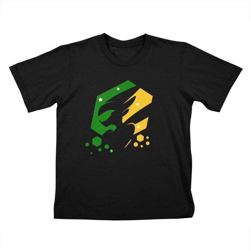 KQB Logo: Brazil Kids T-Shirt by Liquid Bit Artist Shop