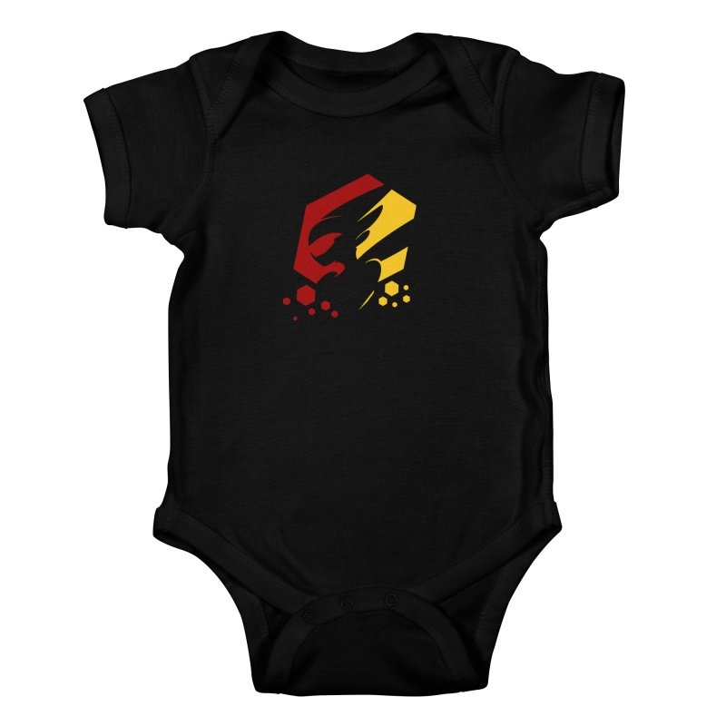 KQB Logo: Germany Kids Baby Bodysuit by Liquid Bit Artist Shop