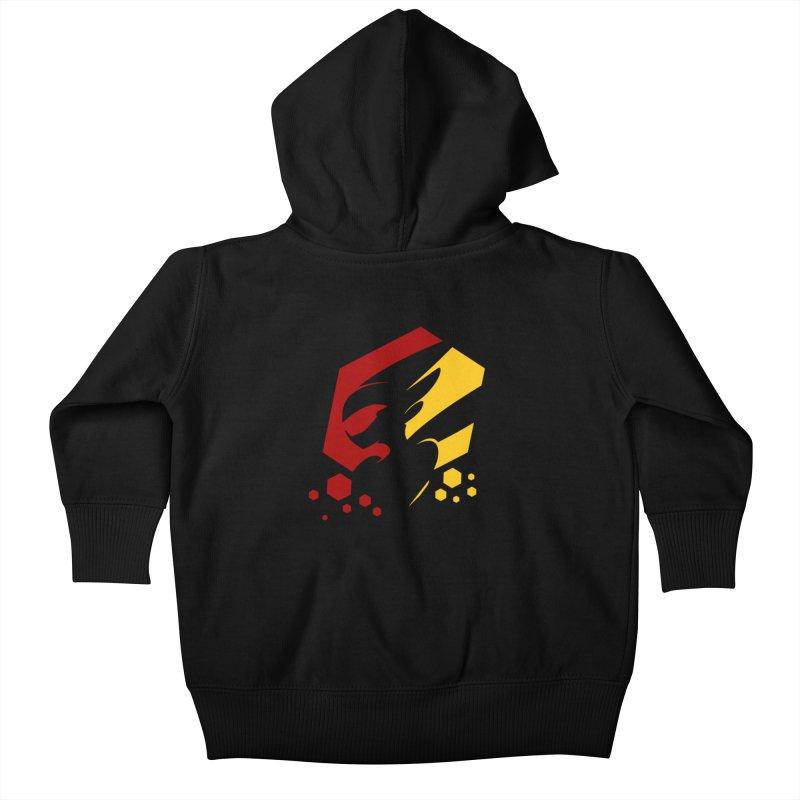 KQB Logo: Germany Kids Baby Zip-Up Hoody by Liquid Bit Artist Shop