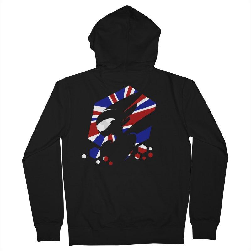 KQB Logo: UK Men's Zip-Up Hoody by Liquid Bit Artist Shop