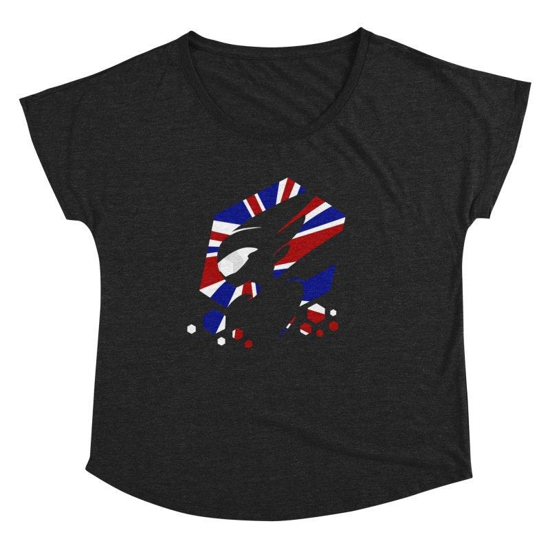 KQB Logo: UK Women's Scoop Neck by Liquid Bit Artist Shop
