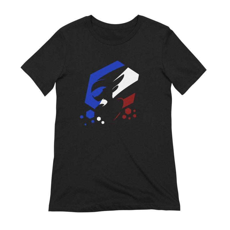 KQB Logo: France Women's T-Shirt by Liquid Bit Artist Shop