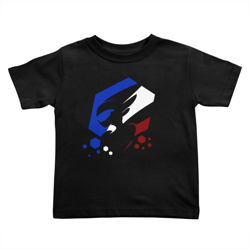 KQB Logo: France Kids Toddler T-Shirt by Liquid Bit Artist Shop