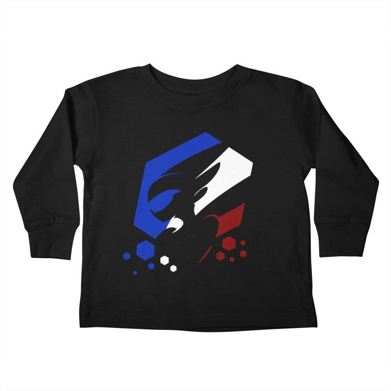 KQB Logo: France Kids Toddler Longsleeve T-Shirt by Liquid Bit Artist Shop