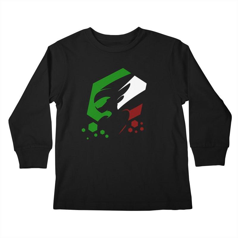KQB Logo: Italy Kids Longsleeve T-Shirt by Liquid Bit Artist Shop