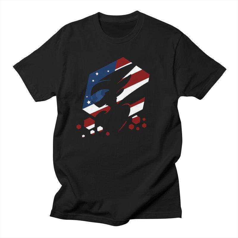KQB Logo: USA Men's T-Shirt by Liquid Bit Artist Shop