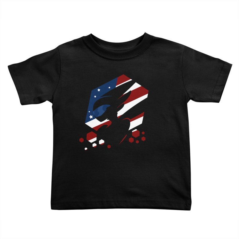 KQB Logo: USA Kids Toddler T-Shirt by Liquid Bit Artist Shop