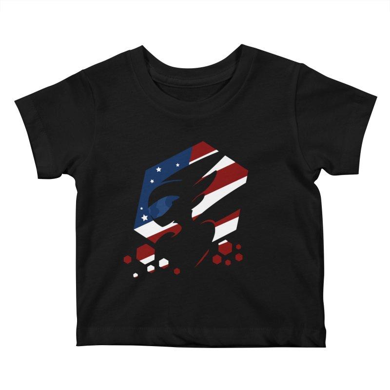 KQB Logo: USA Kids Baby T-Shirt by Liquid Bit Artist Shop