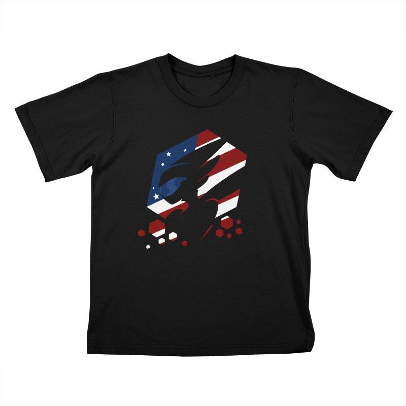 KQB Logo: USA Kids T-Shirt by Liquid Bit Artist Shop