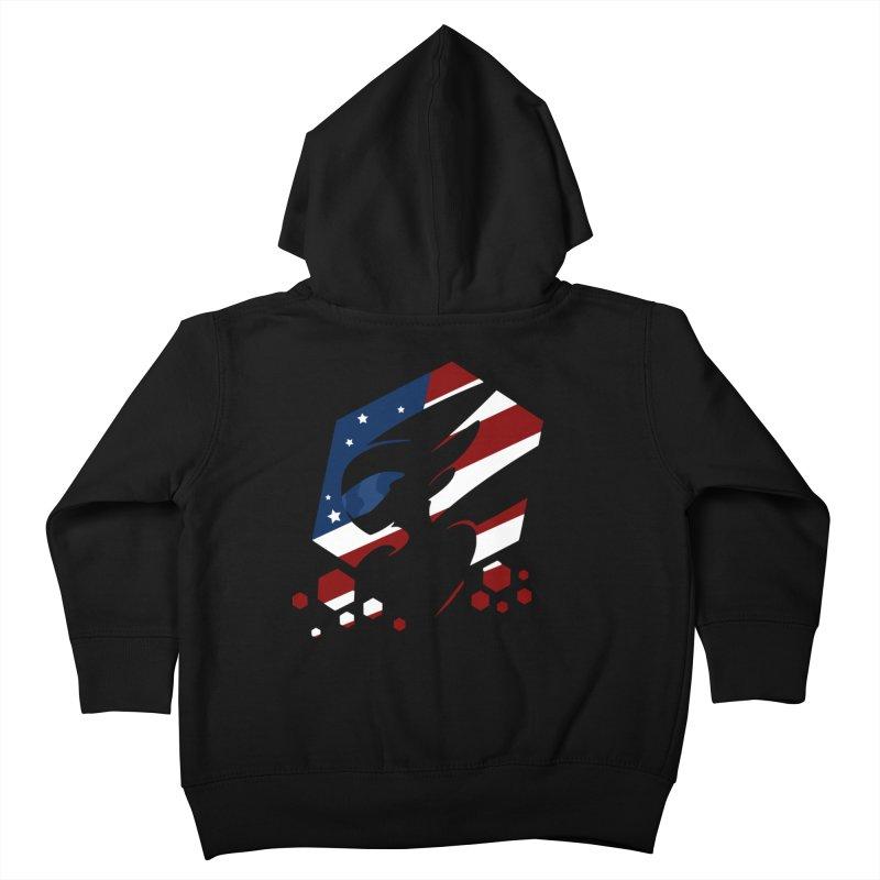 KQB Logo: USA Kids Toddler Zip-Up Hoody by Liquid Bit Artist Shop