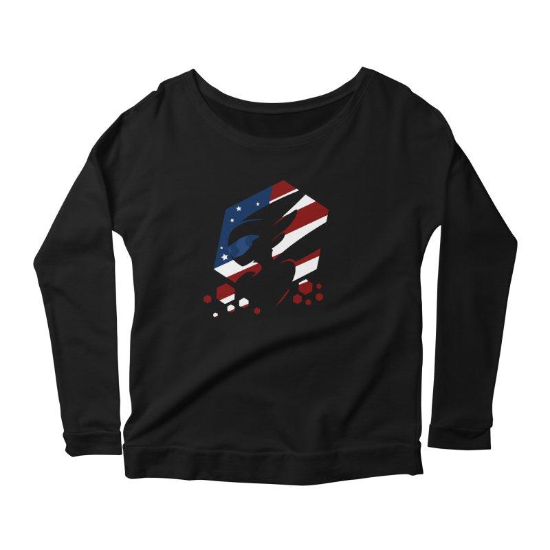 KQB Logo: USA Women's Longsleeve T-Shirt by Liquid Bit Artist Shop