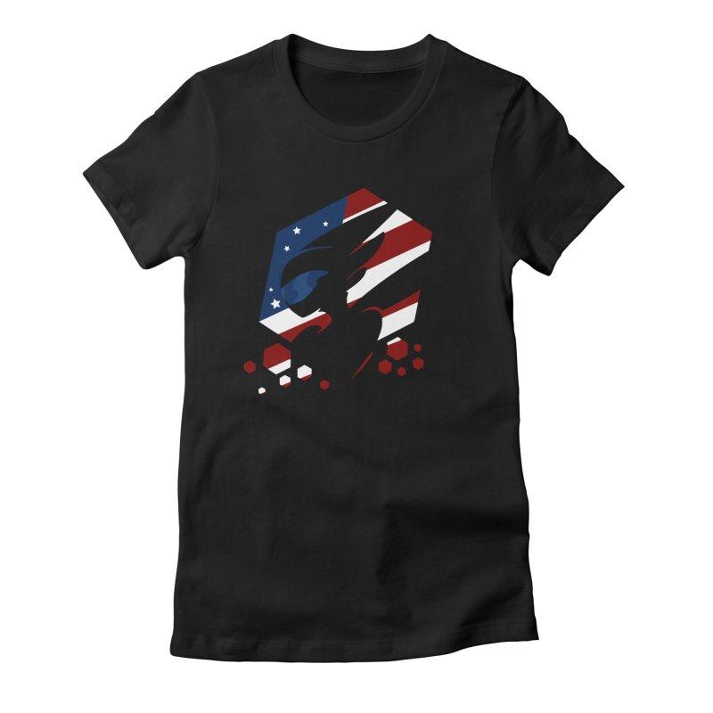 KQB Logo: USA Women's T-Shirt by Liquid Bit Artist Shop