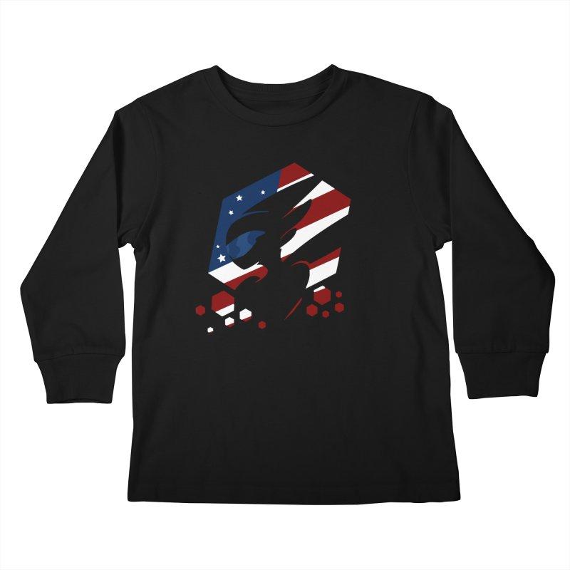 KQB Logo: USA Kids Longsleeve T-Shirt by Liquid Bit Artist Shop
