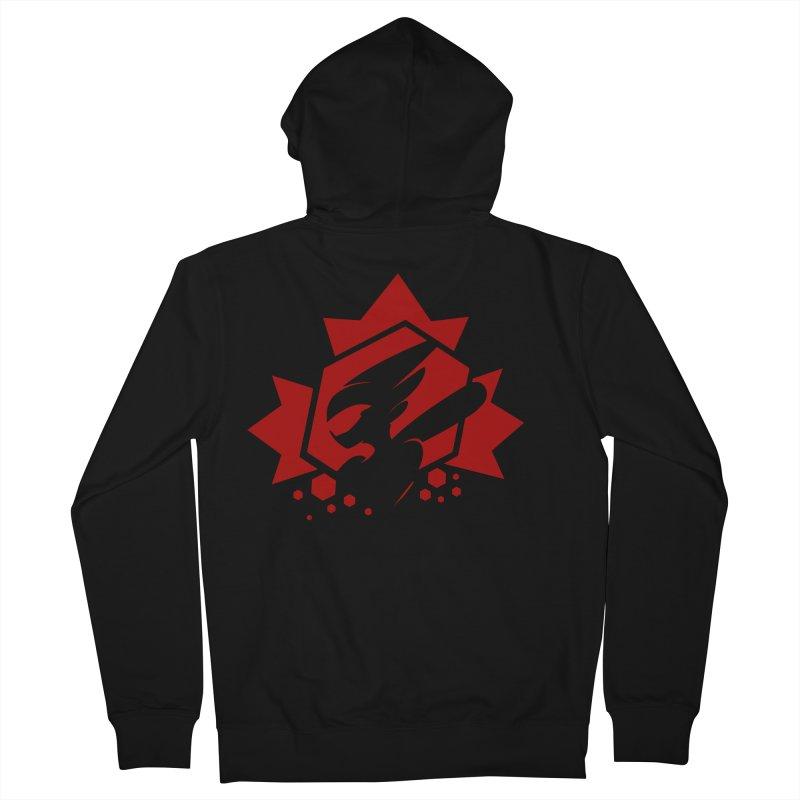 KQB Logo: Canada Men's Zip-Up Hoody by Liquid Bit Artist Shop