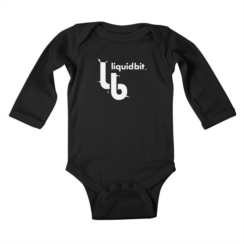 Liquid Bit Logo Kids Baby Longsleeve Bodysuit by Liquid Bit Artist Shop
