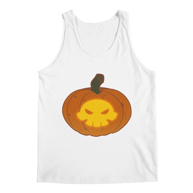 Pumpkin Skull Men's Tank by Liquid Bit Artist Shop