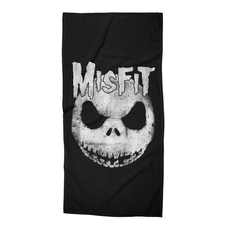 The Misfit of Christmas Town Accessories Beach Towel by lirovi's Artist Shop