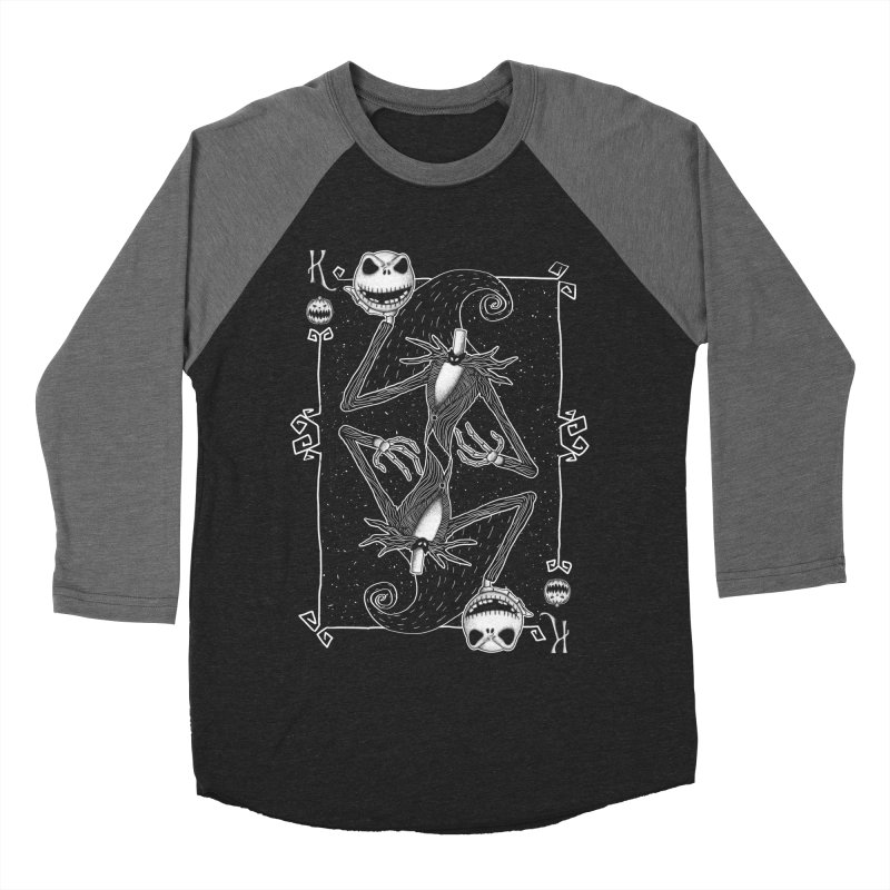 The Pumpkin King  Women's Baseball Triblend T-Shirt by lirovi's Artist Shop