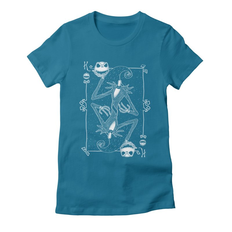 The Pumpkin King  Women's Fitted T-Shirt by lirovi's Artist Shop