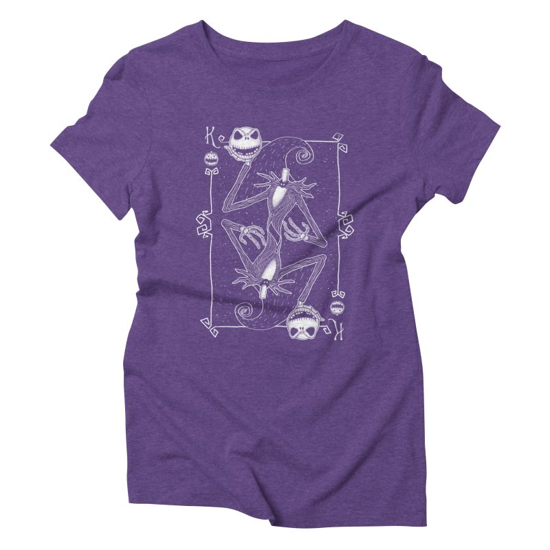 The Pumpkin King  Women's Triblend T-shirt by lirovi's Artist Shop