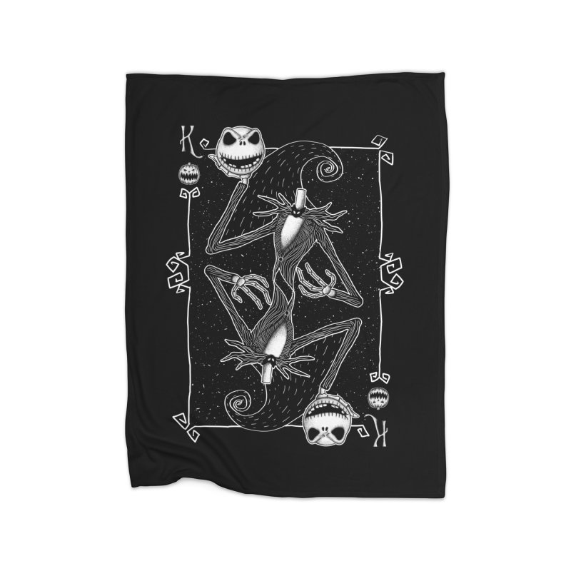 The Pumpkin King  Home Blanket by lirovi's Artist Shop