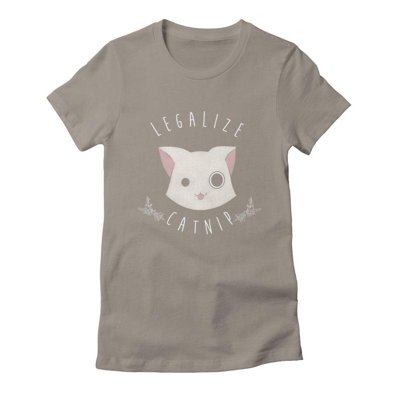 Legalize Catnip Women's Fitted T-Shirt by lirovi's Artist Shop
