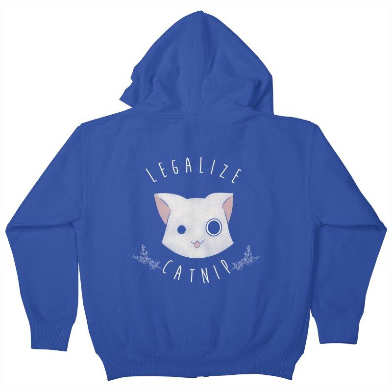 Legalize Catnip Kids Zip-Up Hoody by lirovi's Artist Shop